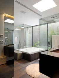Baño moderno de formas simples