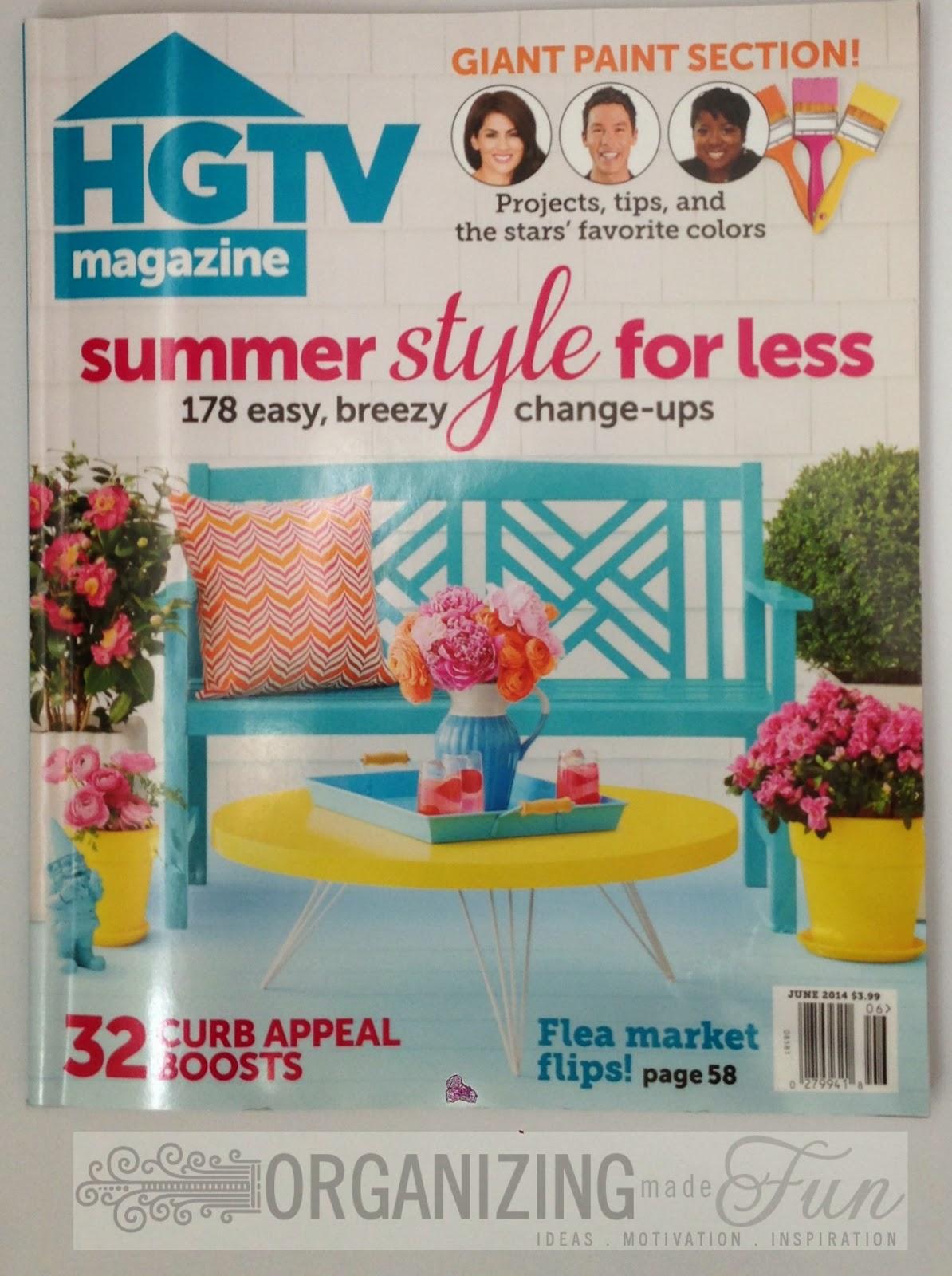 My new favorite magazine - HGTV Magazine :: OrganizingMadeFun.com