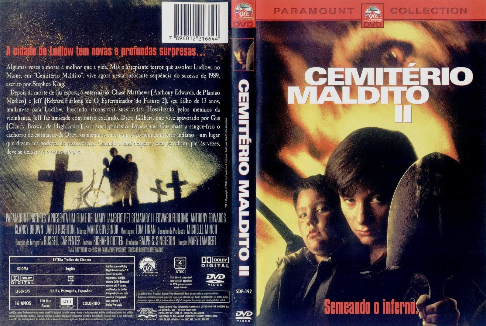 Filme Cemitério Maldito 2 DVD Capa