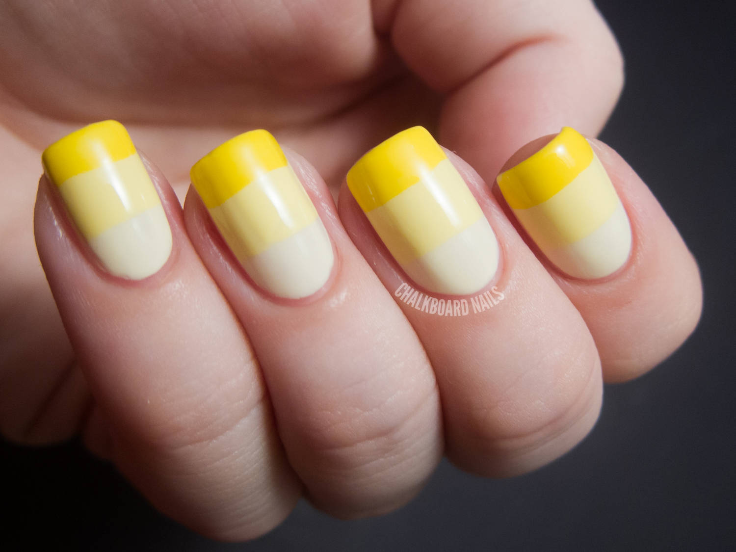 31DC2012: Day 03, Yellow Nails | Chalkboard Nails | Nail Art Blog