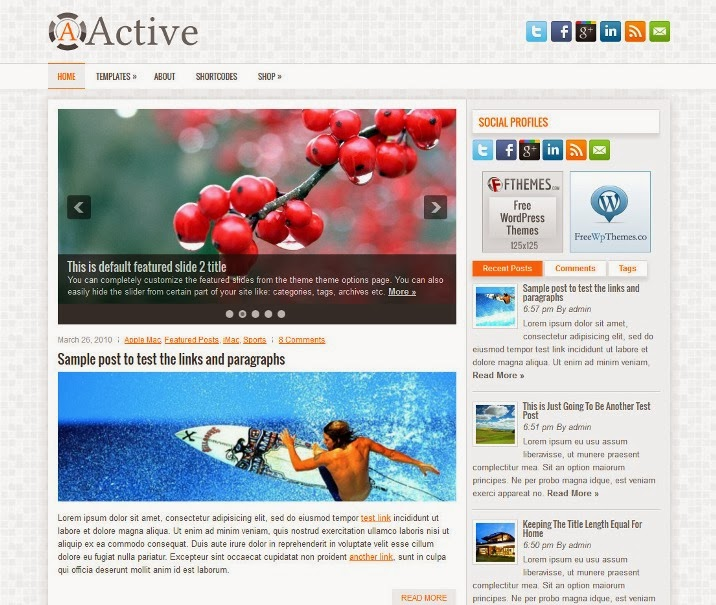 Active - Free WordPress Theme