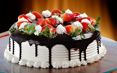 strawberry cake with Chocolate