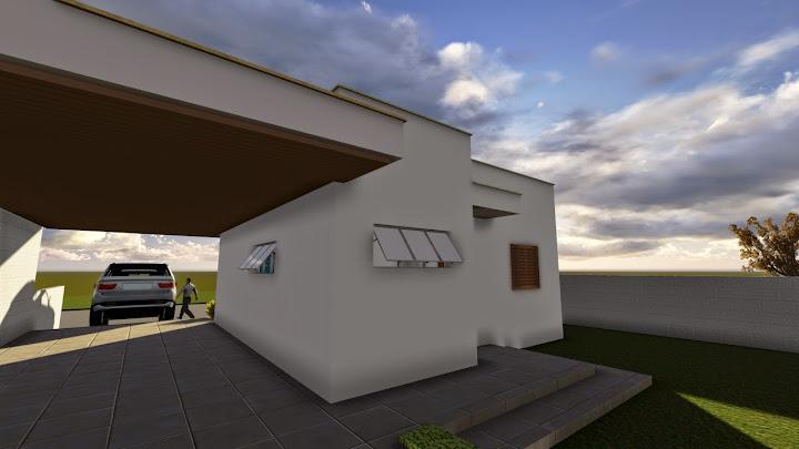 Projeto de casa 2 quartos Minha Casa, Minha Vida