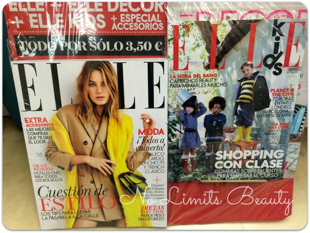 Regalos revistas Octubre 2014: Elle