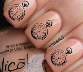 Alice In Wonderland Clock Nails