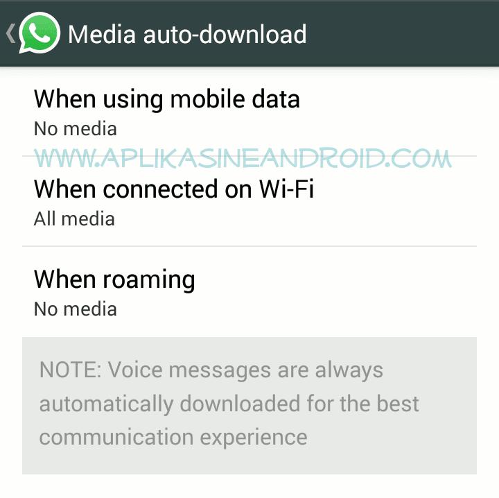 Auto download di whatsapp