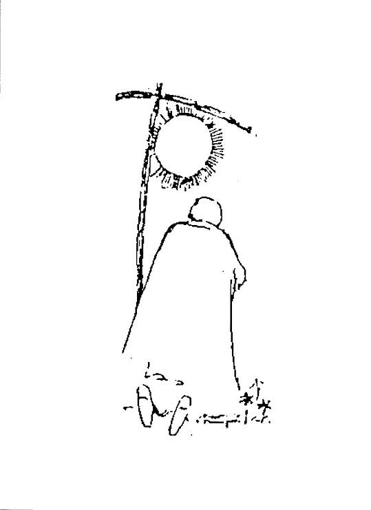 Jan Pawel modli sie do kopernikowskiego boga slonce