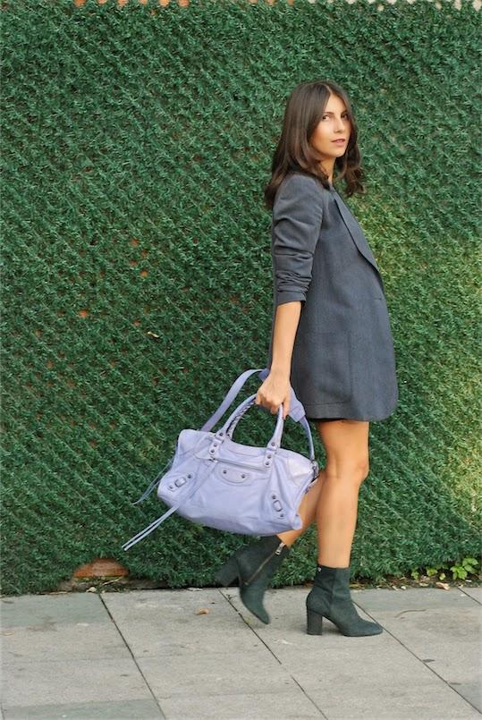 blazer,balenciaga bag, zadig and voltaire boots, street style,fashionblogger