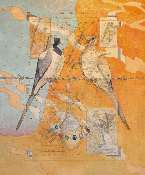 10-Namaqua-Artist-Paul-Morstad-Cartographic-Maps-Vancouver-Canada-Collage-Water-Colour-Gouache-Oil-Paints-www-designstack-co