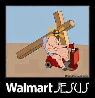 Funny Walmart Jesus Cartoon Joke Picture