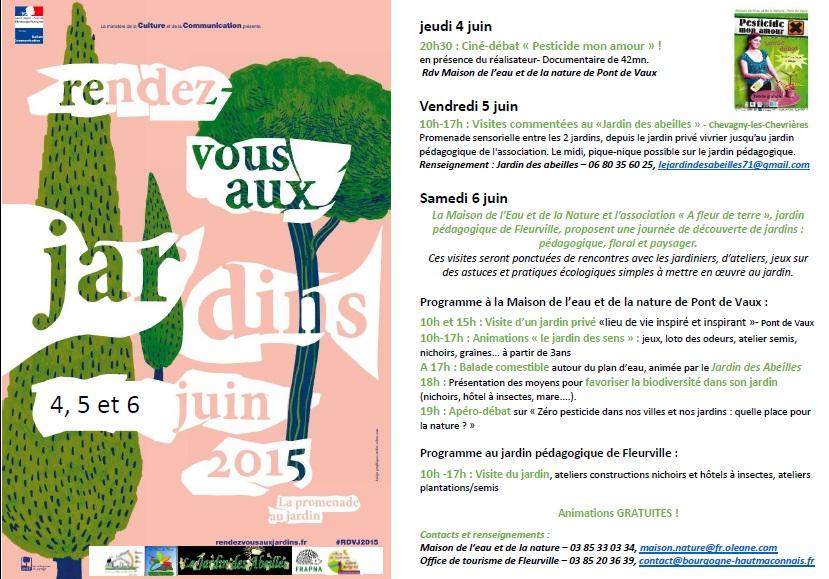 Le jardin des abeilles 71 rendez vous aux jardins 2015 for Rdv jardin 2015