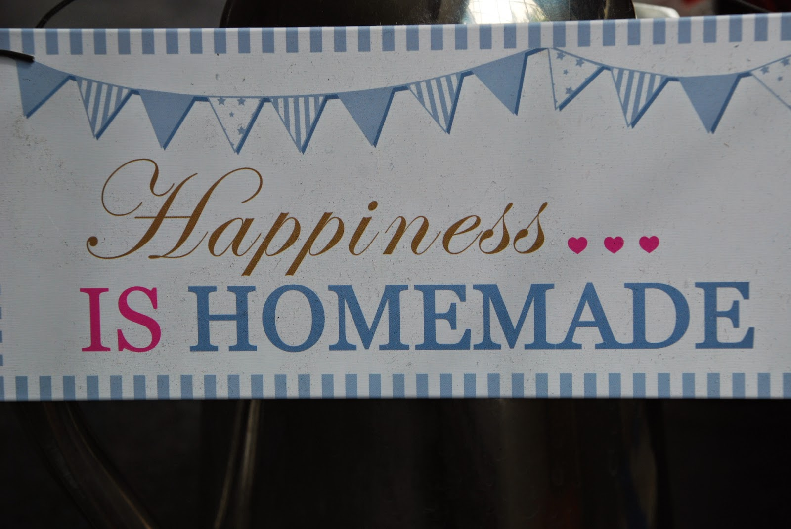 image of Happiness is Homemade banner