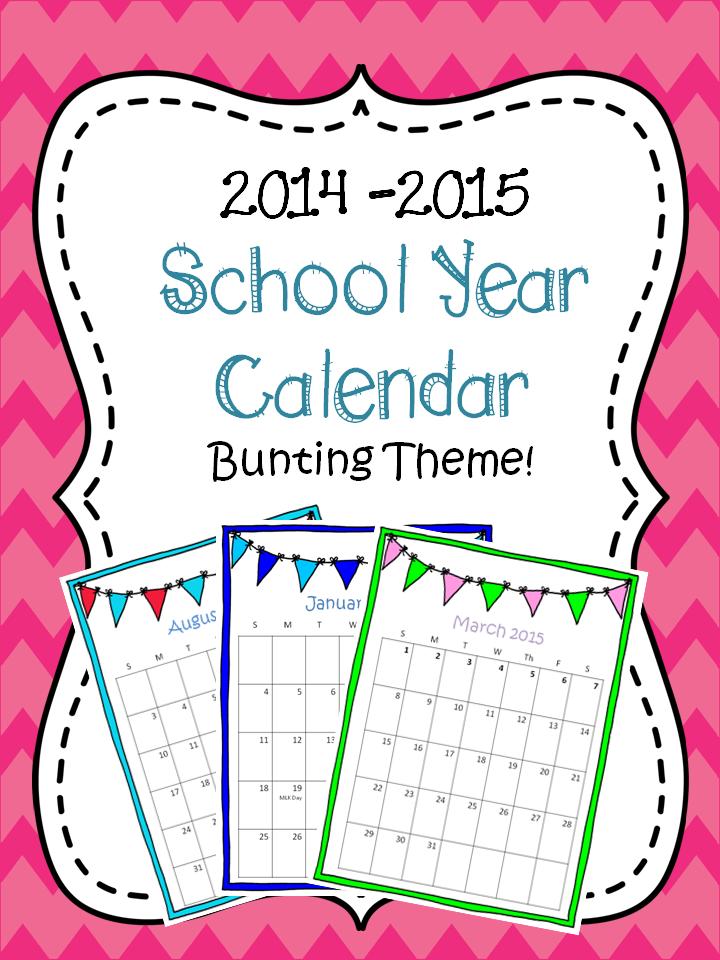 http://www.teacherspayteachers.com/Product/2014-2015-School-year-Calendar-1277842