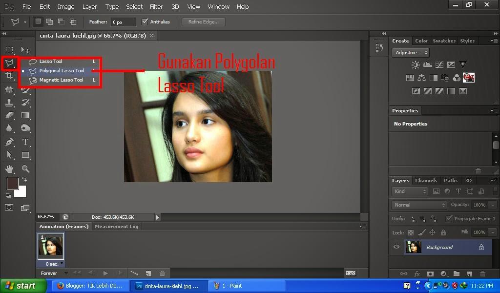 Cara Mewarnai Rambut | Photoshop