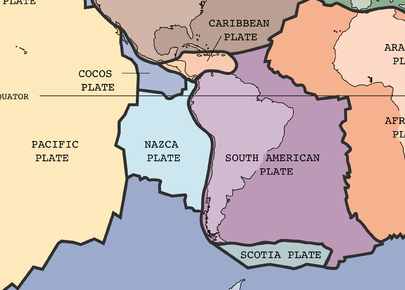 Galapagos Island Geography And Geology Part One The Tectonic - Map where is the galapagos islands relative to the us