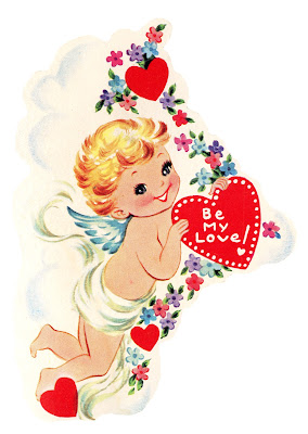 Free Vintage Image - Cupid with Heart