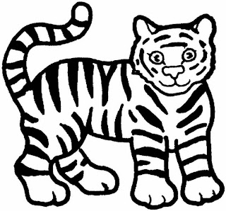 tiger coloring pages, kids coloring pages