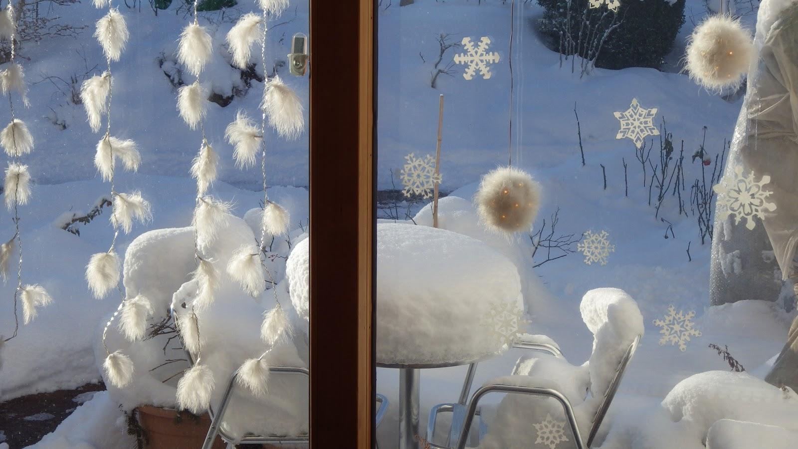 Romantischeslandleben nochmals so richtig winter - Winterdekoration fenster ...