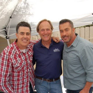 Endless Pools Factory Trained Installer Rob Doezie surrounded by Catch a Contractor co-hosts Adam Carolla and Skip Bedell