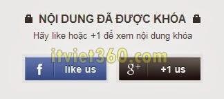 Cách tăng Like Page Facebook, link G+ code sử dụng cho blog, Website