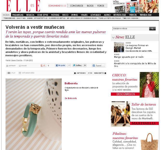 Bolboreta en Elle.es