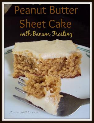 Peanut Butter Sheet Cake with Banana Frosting, Elvis Presley