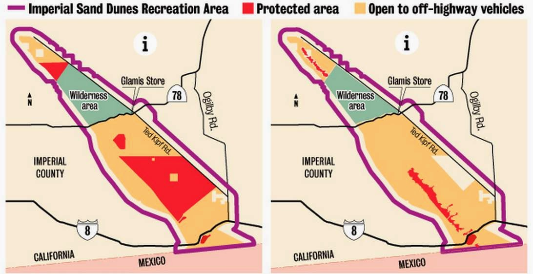 Imperial Sand Dunes Recreation Area Closure Map