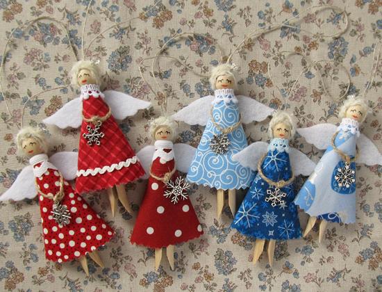 Angels, рождественские ангелы