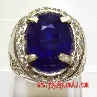 Cincin Permata Royal Blue Sapphire