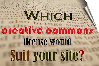 Which creative commons license would suit your site front