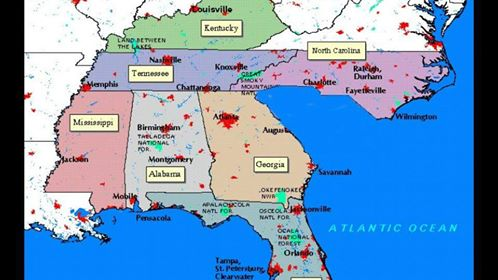 This Is From Facebook A New Map Of The Southeastern Us We Re All Glad It S Just A Joke But What Happened Here This Weekend Was No Joke