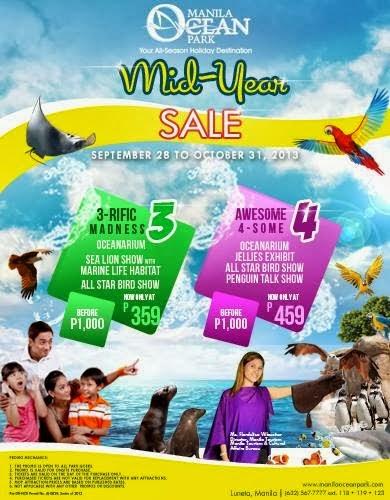 : Manila Ocean Park Mid-Year Sale September 28 to October 31 2013