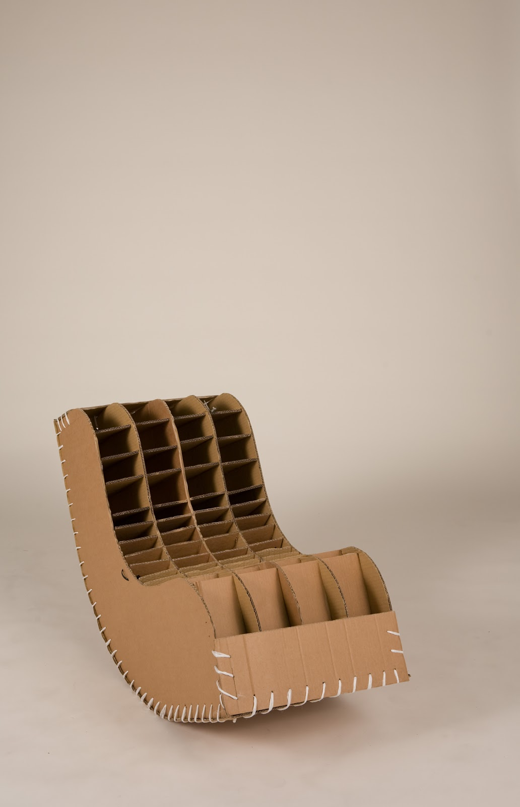 Finished product cardboard rocking chair sheet seat project this product does work and easily copes with one persons weight whilst rocking