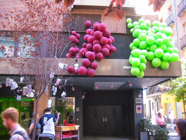 Racimos de uvas en la fachada