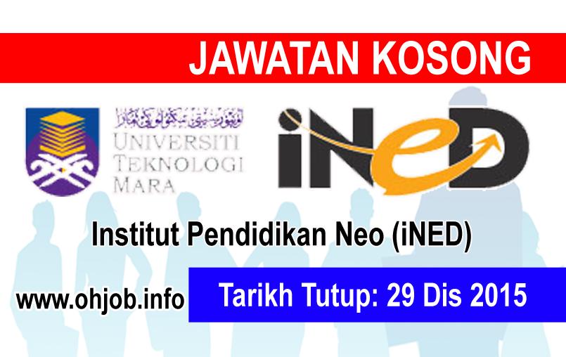 Jawatan Kerja Kosong Institut Pendidikan Neo (iNED) logo www.ohjob.info disember 2015