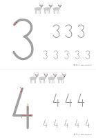 kaligrafia cyfr - renifery