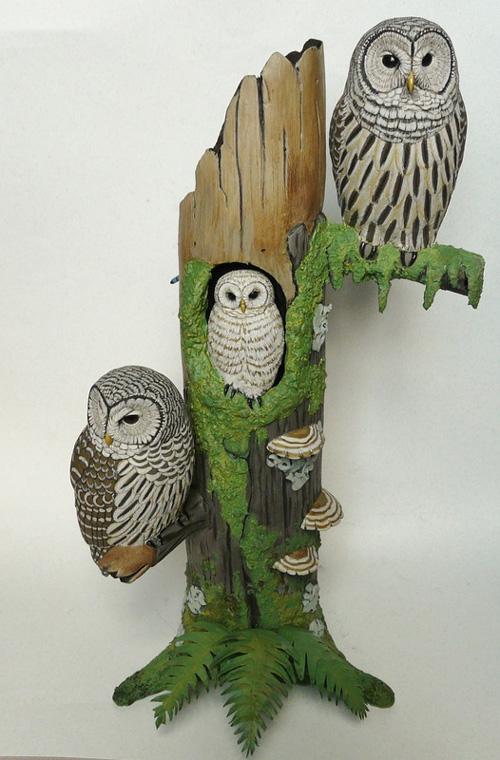 My owl barn tim mceachern bird carver