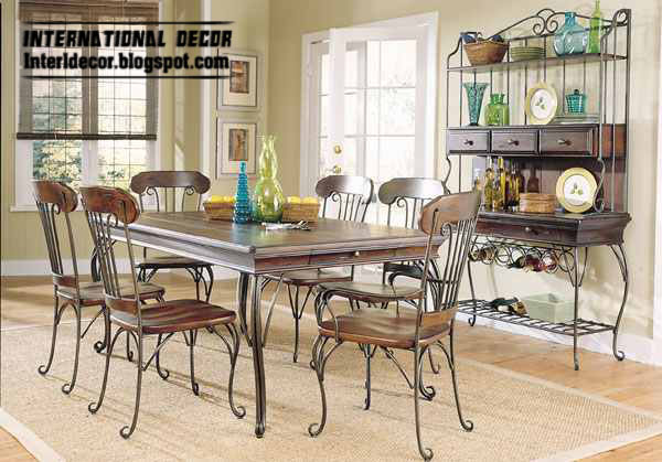 Indoor iron dining tables and iron chairs designs 2013 Home