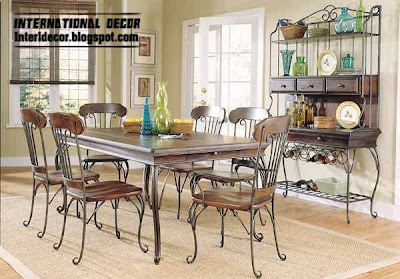 Indoor Iron Dining Tables And Iron Chairs Designs