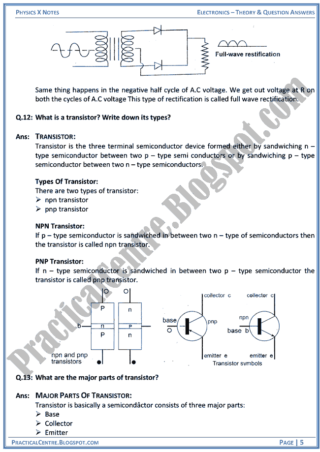 electronics-theory-and-question-answers-physics-x