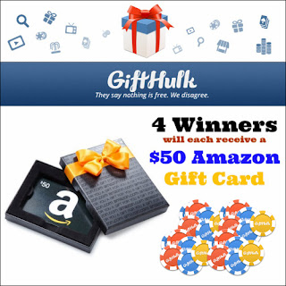 Enter the Back to GiftHulk Giveaway to win 1 of 4 $50 Amazon Gift Cards. Ends 7/29.