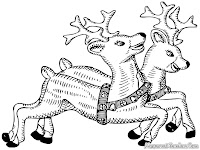 Mewarnai Gambar Rusa Santa Klaus
