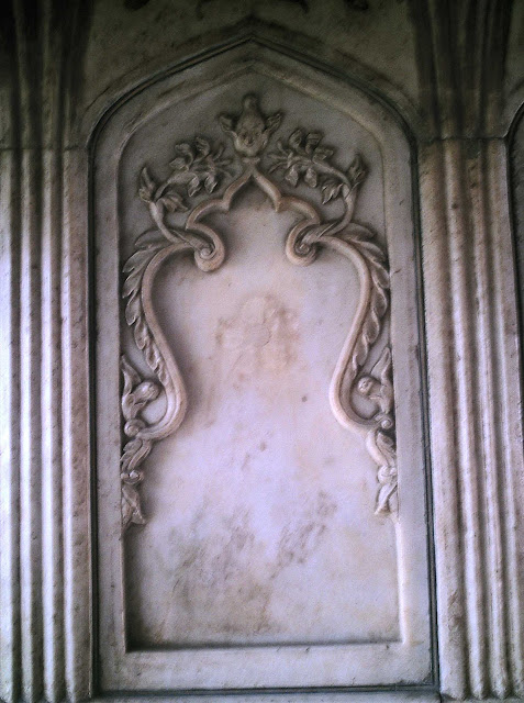 marble carvings at the Taj