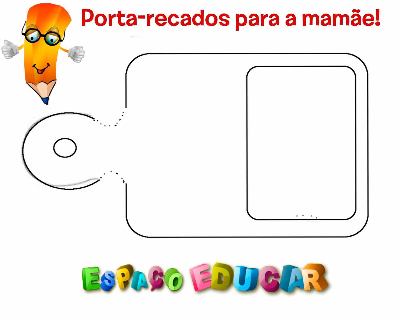 Populares ESPAÇO EDUCAR: Lembrança para o dia das mães - Tábua de carne  WL98