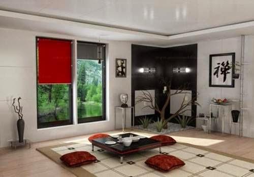 Ruang tamu tanpa sofa 1