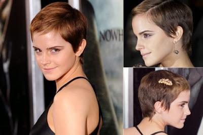 Emma Watson short haircut with bang
