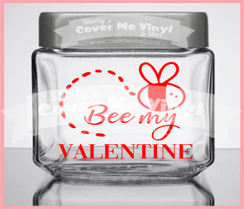 Bee My Valentine Candy Jar