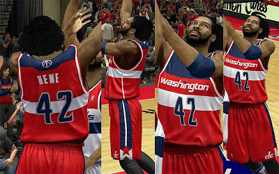 NBA 2K13 Washington Wizards Jersey Pack Mod