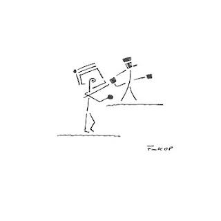 Zeichnung Bild / painting picture : Duell / duel