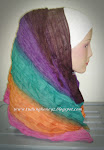 Rainbow Crumple Shawl